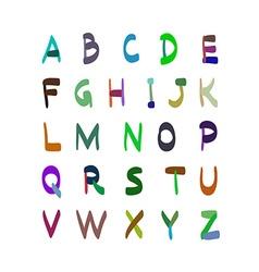 Alphabet hand drawn Set of icons vector image