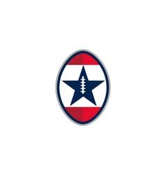 American football ball star stripes retro vector