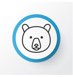Bear icon symbol premium quality isolated grizzly vector