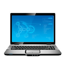 blue laptop vector image