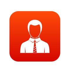 businessman icon digital red vector image vector image