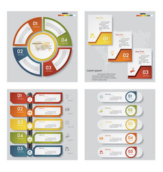 collection of 4 presentation template vector image