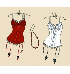 corsets vector image vector image