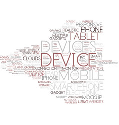 Device word cloud concept vector