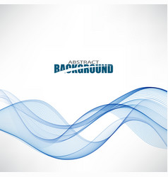 flowing blue wavesabstract background waveblue vector image vector image