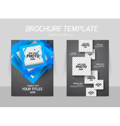 Flyer back and front template design vector