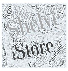 garage storing shelves Word Cloud Concept vector image