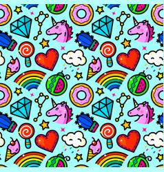 Girl fashion seamless pattern vector