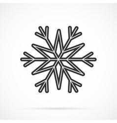 Gray Snowflake Icon Over White vector image