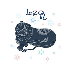 Leo horoscope sign vector