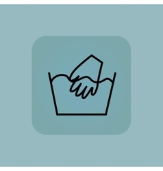 Pale blue hand wash icon vector