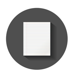 Realistic template paper sheet with line office vector