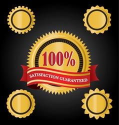 Satisfaction guarantee ribbons vector
