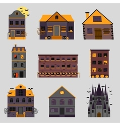 Scary house and horror house vector