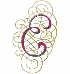 script letter e vector image