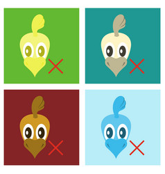 set of chicken bird engraving drawn flat vector image vector image