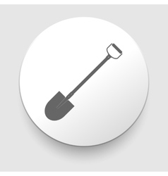 shovel - icon vector image