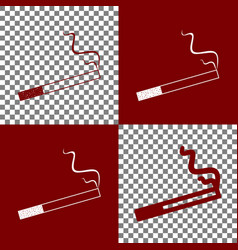 Smoke icon great for any use bordo and vector