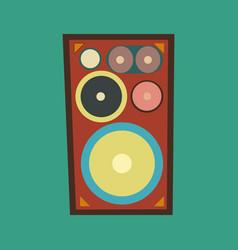 speaker retro style vector image vector image