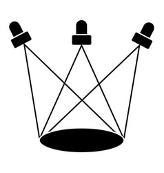 sportlights icon black sign vector image
