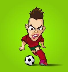 The hardcore control football cartoon vector