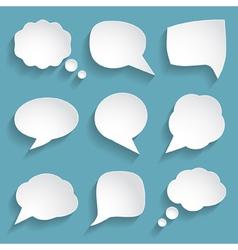 white paper speech bubbles vector image