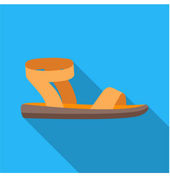 Woman sandals icon in flat style isolated on white vector