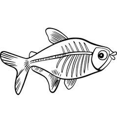 xrayfish for coloring vector image vector image