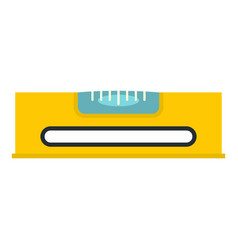 Yellow working tool bubble level icon isolated vector