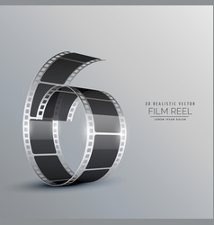 3d film reel background vector