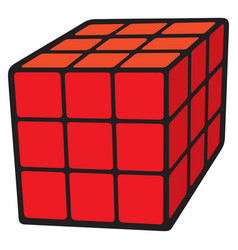 Cube puzzle vector