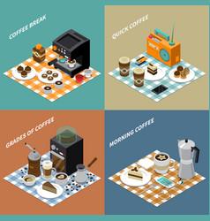 coffee isometric design concept vector image