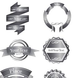 Great chroome emblem logo set vector
