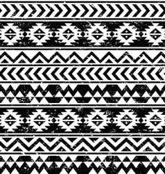 Aztec tribal seamless grunge white pattern vector image