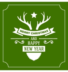 Greeting christmas and new year card vector