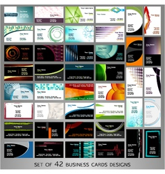 42 cards vector image