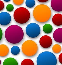 Paper color bubbles vector image
