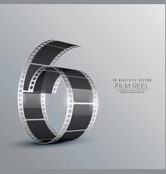 3d film reel background vector image vector image
