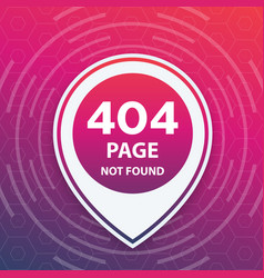404 page not found trendy template vector