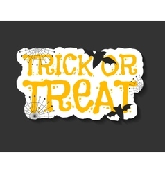 Happy halloween trick and treat flyer template - vector