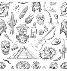 Mexican seamless pattern vector