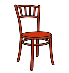 Classic red chair vector