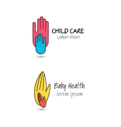 Child care baby health charity family vector