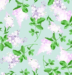 Seamless floral pattern with a branch vector