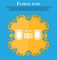 Scoreboard icon floral flat design on a blue vector