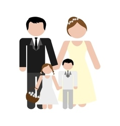 Family concept avatar icon colofull flat and vector