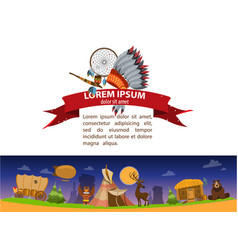 american indian game background 19th century in vector image vector image