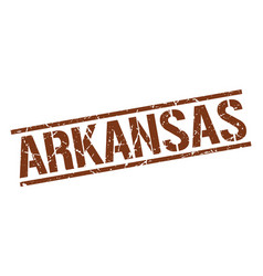 Arkansas brown square stamp vector