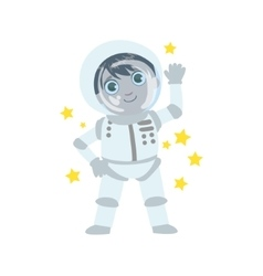 Boy future astronaut vector