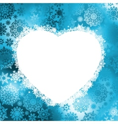 christmas heart frame vector image